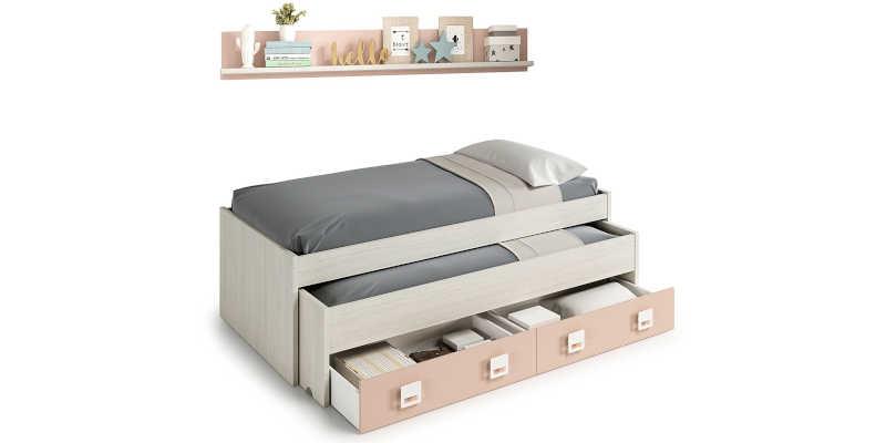 Imágenes Cama diván con dos cajones barato baratos barata baratas precio precios comprar oferta ofertas barata baratas