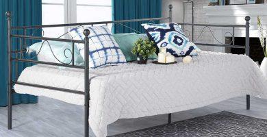 Diván cama de forja individual de 90 Cama diván con dos cajones barato baratos barata baratas precio precios comprar oferta ofertas barata baratas